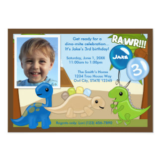 Adorable Dinosaur birthday invitation (photo)