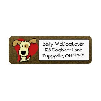 Adorable Dog Return Address Label