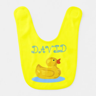 Adorable Duck Customisable front and back Bibs