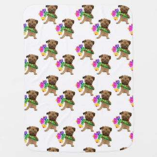 Adorable Easter, Spring Pugs Baby Blanket