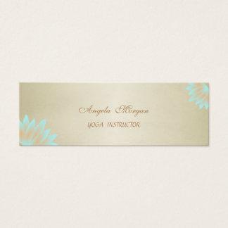 Adorable Elegant Chic Lotus Flower Mini Business Card