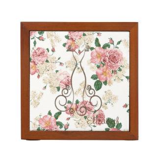 Adorable Elegant Dress,Floral Pattern-Personalized Desk Organiser