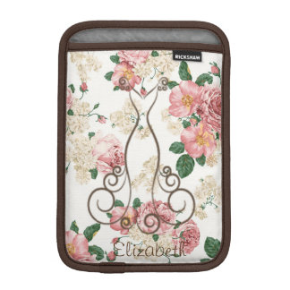 Adorable Elegant Dress,Floral Pattern-Personalized iPad Mini Sleeve