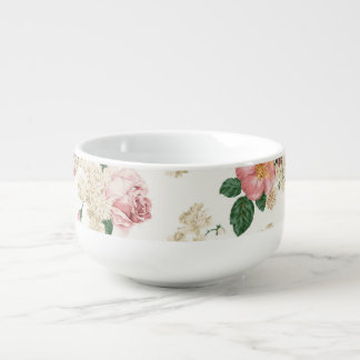 Adorable Elegant Dress,Floral Pattern-Personalized Soup Mug