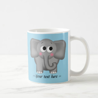 Adorable Elephant - Blue Personalized Mug