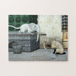 Adorable Elephant Cats Jigsaw Puzzle