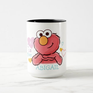 Adorable Elmo | Add Your Own Name Mug