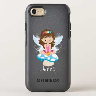 Adorable Fairy on Toadstool Personalized OtterBox Symmetry iPhone 7 Case