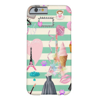 Adorable Fashion,Paris,Hearts Pattern Barely There iPhone 6 Case