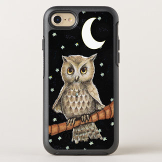 Adorable Feathered Owl Fancy Necklace Moon Stars OtterBox Symmetry iPhone 8/7 Case
