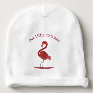 Adorable Feathery Custom Pink Flamingos Art Baby Beanie
