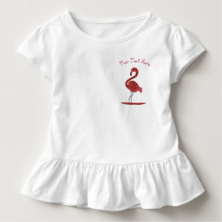 Adorable Feathery Pink Flamingo Art Toddler T-Shirt
