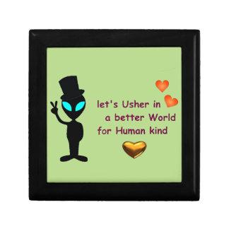 Adorable Friendly Alien Keepsake Box