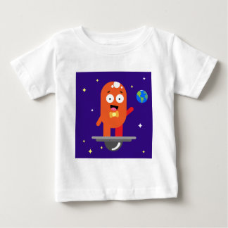 Adorable Friendly Surfing Alien Baby T-Shirt