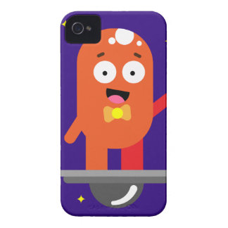 Adorable Friendly Surfing Alien Case-Mate iPhone 4 Cases