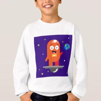 Adorable Friendly Surfing Alien Sweatshirt
