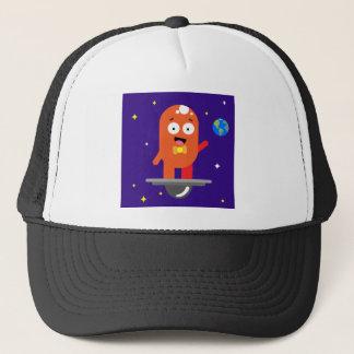 Adorable Friendly Surfing Alien Trucker Hat