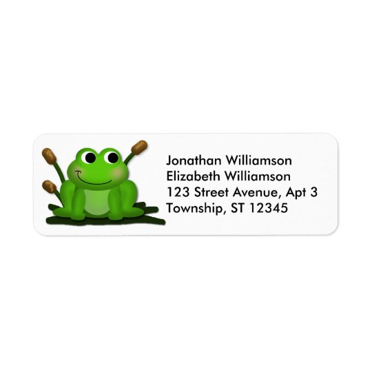 Adorable Froggy Return Address Labels