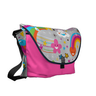 Adorable Fun Bright Rainbow Bag Commuter Bags