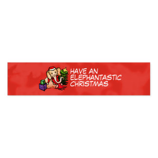 Adorable Fun Festive Santa Elephantastic Christmas Napkin Band