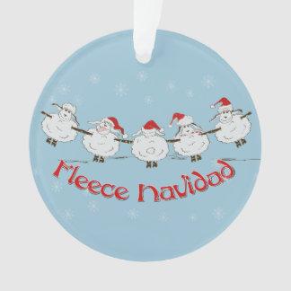 Adorable FUNNY Fleece Navidad Christmas Sheep Ornament