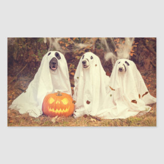 Adorable Ghost Dog Halloween Sticker