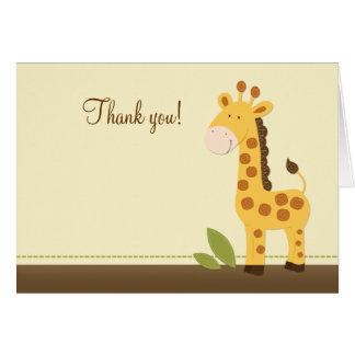 Adorable Giraffe Folded Thank you notes Note Card