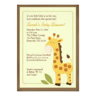 Adorable Giraffe Jungle 5x7 Baby Shower Invitation