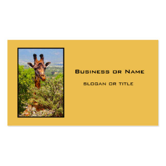 Adorable Giraffe Poking His Head Above The Trees Double-Sided Standard Business Cards (Pack Of 100)