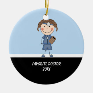 Adorable Girl Doctor Ornament