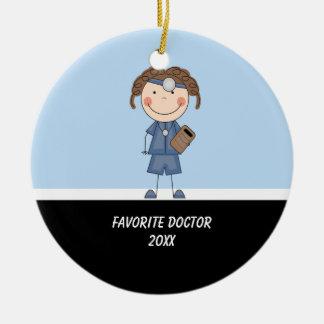 Adorable Girl Doctor Ornament