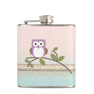 Adorable Girly Cute Owl Hip Flask