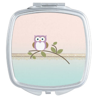 Adorable Girly Cute Owl Mirror For Makeup