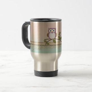 Adorable Girly Cute Owl,Personalized Travel Mug