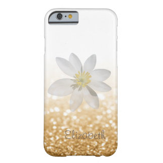 Adorable Girly,Daisy ,Glittery,Bokeh ,Personalized Barely There iPhone 6 Case