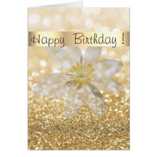 Adorable Girly,Daisy ,Glittery,Bokeh ,Personalized Card