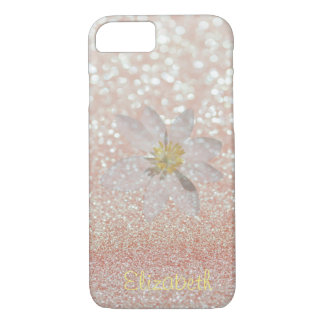 Adorable Girly,Daisy ,Glittery,Bokeh ,Personalized iPhone 8/7 Case