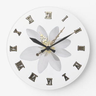 Adorable Girly,Daisy ,White Large Clock