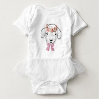 Adorable Goat Baby Bodysuit