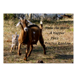 Adorable Goats Random Acts of Kindness Cards Pack Of Chubby Business Cards