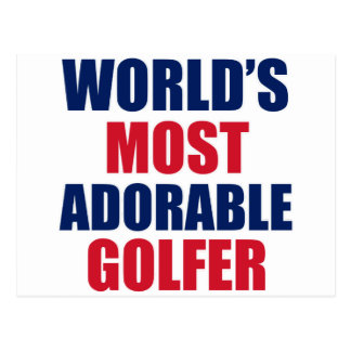 Adorable golfer post card