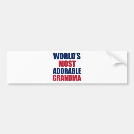 Adorable Grandma Bumper Stickers