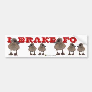 Adorable Gray Duckling Photograph Car Bumper Sticker