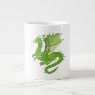 Adorable Green Dragon Large Coffee Mug