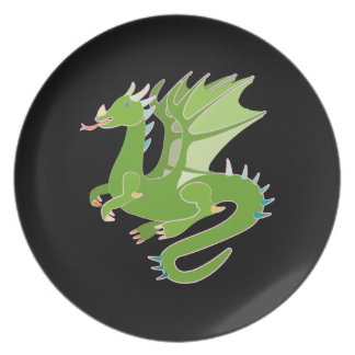 Adorable Green Dragon Plate