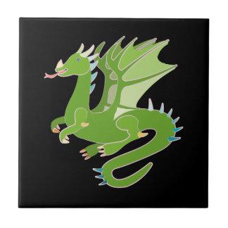 Adorable Green Dragon Tile