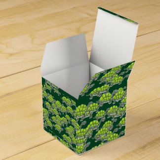 Adorable Green Sea Turtles Pattern Favor Boxes