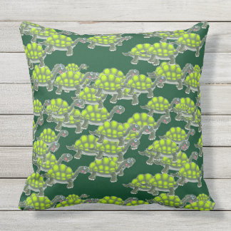Adorable Green Sea Turtles Pattern Throw Pillow