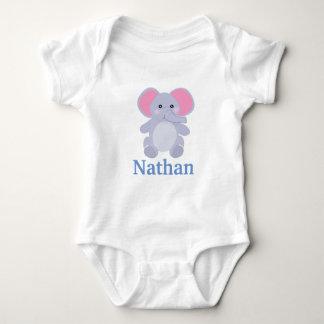 Adorable Grey Elephant Boy baby shower Baby Bodysuit