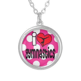 Adorable gymnastics necklace